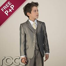 Boys Golden Beige Suit Page Boy Formal Prom Communion Wedding Suits 1 - 13 years