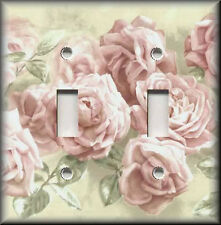 Light Switch Plate Cover - Shabby Decor - Soft Pink Roses - Floral Home Decor