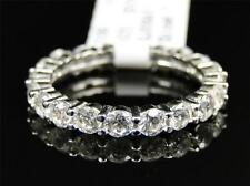 .925 Sterling Silver Pave Simulated Lab Diamond Ethernity Ring Band 2.5 inch