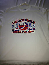 NY ISLANDERS NHL STANLEY CUP PLAYOFFS DRIVE FOR FIVE VINTAGE SHIRT Sz L PENGUINS