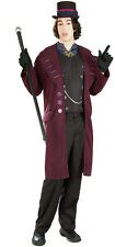 Willy Wonka Charlie Chocolate Factory Burton Fancy Dress Halloween Adult Costume