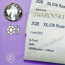 GENUINE Swarovski Crystal Clear Iron On Hotfix Rhinestones Glass Gems Art Design