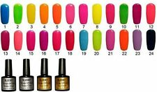 BLUESKY NEON, UV/LED GEL. Free 10 x CND Shellac Remover Wraps w/orders 6 or more