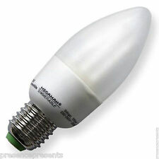 MEGAMAN DIMMABLE 9w=40w CANDLE ES E227 SCREW CAP FITTING LOW ENERGY 240v 10 12 8