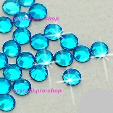 Light Aquamarine Iron On Flatback Hotfix Rhinestone Crystal Glass Nice Diam​ante
