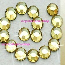 Jonquil Yellow Iron On Flatback Hotfix Rhinestone Crystal Glass Nail Diam​ante