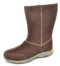 Easy Spirit TRAVELRITE Brown Suede Mid Calf Boots Women's - NEW