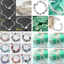 Wholesale Fashion Jewelry Special Solid 925silver Bracelet Necklace set gift box