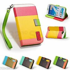 STAND WALLET LEATHER CASE COVER FOR SAMSUNG GALAXY NOTE 2 N7100 + SCREEN GUARD