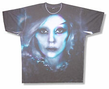 "LADY GAGA ""CLOSE UP ALL OVER"" SUBLIMATION T-SHIRT 2013 TOUR NEW OFFICIAL"