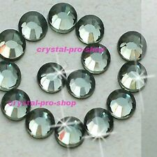 Black Diamond Hotfix Rhinestone Iron On Flatback Crystal Glass Diam​ante Gem DIY