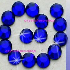 Cobalt Blue Hotfix Rhinestones Iron On Flatback Crystal Bling Diam​ante DIY Gem
