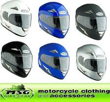 SPADA RP700 PLAIN FULL FACE MOTORCYCLE CRASH HELMET ALL COLOURS & SIZES