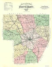 Old County Maps - FAYETTE COUNTY OHIO (OH) OUTLINE MAP 1913