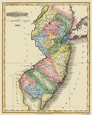 Old State Map - New Jersey - Lucas 1823 - 23 x 28.5