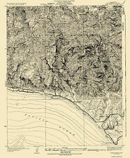 Topographical Map Print - Dume Point California Quad - USGS 1932 - 18 x 22