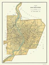 Historic City Maps - ROCHESTER NEW YORK (NY) BY JULIUS BIEN & COMPANY 1895