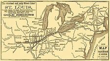 Old Railroad Map - Toledo, Wabash and Gt Western Railroad Line 1859 - 41 x 23