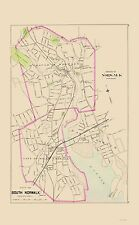 Old City Map - Norwalk, South Norwalk Connecticut - Hurd 1893 - 23 x 37.16