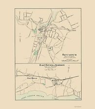 Old City Map - Seymour, East River, Madison Connecticut - Hurd 1893 - 23 x 26.44