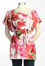 New JAPANESE WEEKEND MATERNITY  Asymmetrical Floral Watercolor Flutter TOP $115