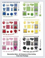 Polka Dots Party Tableware Birthday Decoration Yellow Red Black Pink Blue Green