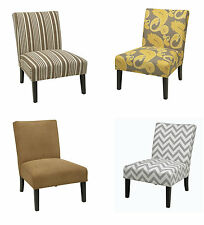 Ave Six Victoria Armless Fabric Accent Chair Living Room Bedrm Lounge Seat VCT51