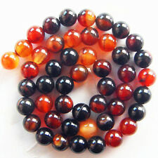 XJ-157 Wholesale Natural Mixed Color Onyx Agate Round Ball Loose Bead 15.5 inch