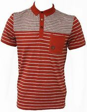 BNWT Mens Duck And Cover Mitchell Striped Polo Neck T-Shirt, Sizes S M L XL XXL