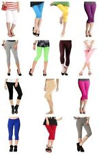 GIRL'S COTTON LYCRA CROP 3/4 LEGGINGS STRETCHY QUALITY FOR CASUAL/SPORT/ACTIVE