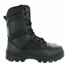 Mens Amblers Army Police Tactical Leather Combat Safety Toe Cap Boots Size 4-14