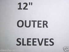 "OUTER SLEEVES for 12"" LP RECORD ALBUMS ~ PLASTIC POLY BAGS for VINYL 3mil 4mil"