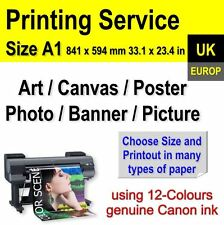 A1 Your Photos Poster Canvas Art Picture Banner Printing Service - Self-Adhesive