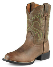 NEW ARIAT KIDS STYLE 10008719 brown distressed LEATHER HERITAGE WESTERN BOOTS