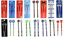 OFFICAL FOOTBALL CLUB - 2 PK PENCILS PEN WITH RUBBER TOPPERS STATIONERY SCHOOL