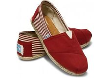 TOMS CLASSICS WOMENS UNIVERSITY RED - NEW IN BOX - SIZES 6.5,7.5,9,9.5,10