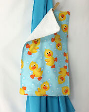 Classy Turquoise Muslin Swaddling Blanket & Burp Cloth Combo - GREAT gift idea