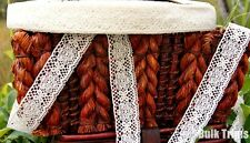 Cluny Style Off White Floral Lace Trim 1 3/8''  wide