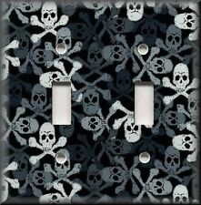 Light Switch Plate Cover - Skull And Crossbones Pattern - Gothic Home Decor
