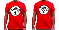 DR SEUSS CAT IN THE HAT THING 1 AND THING 2 T-SHIRT sold separately red only