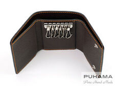 PUHAMA PF20 Hand-Stitched Handmade Personalized Leather Key Case Wallet Purse