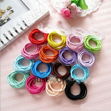 10 PCS in 1 Set Thin Hair Elastics Hair Bands Accessories Candy Color Sweet Cute