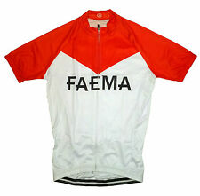FAEMA RETRO CYCLING TEAM BIKE JERSEY - (Eddy Merckx)