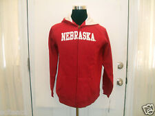 New Youth Red Nebraska Cornhuskers (All Sizes) Full Zipper Hooded Sweatshirt