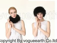 662 new real knitted fox fur 4 color neck warmer/hat