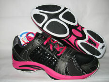 New Ryka Women's Synergy Training Shoes Black Dark Pink White Metallic Platinum