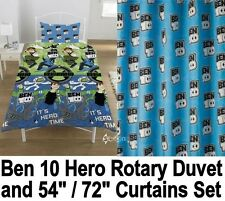 "Ben 10 Hero Rotary Duvet and Matching 54"" or 72"" Curtains Set Omniverse"