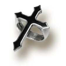 Gothic Cross Ring Pewter In Memoriam Alchemy Jewelry Punk Rock R145