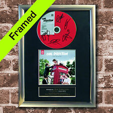 ONE DIRECTION FRAMED Take Me Home Album AUTOGRAPH CD Repro Print A4 Size (25)