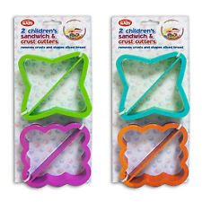 """We Can Cook"" Pack of 2 Children's Sandwich & Crust Cutters A Fun Way To Eat"